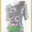 3070ชุดทํางาน เสื้อผ้าคนอ้วนสีเงินแซมดิ้นเงาปรับลุคหรูสง่างามคอวีโค้งรูปหัวใจโชว์เครื่องประดับสไตล์ออกงานเรียบหรู thumbnail 3