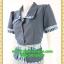 2727เสื้อผ้าคนอ้วน ชุดทำงานแต่งปกแขนเอวลวดลายไทยกระดุมหน้าสไตล์ชุดภูมิฐานเป็นทางการ thumbnail 3