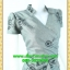 2578ชุดเสื้อผ้าคนอ้วน ชุดทำงานไหมเทียมปักลายไทยสีเทาสไตล์เปรี้ยวหรูไฮโซชุดป้ายสำเร็จเก็บทรงเนี๊ยบสุด thumbnail 2