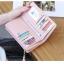 กระเป๋าสตางค์ผู้หญิง ทรงยาว รุ่น Prettyzys SQ Light Pink สีชมพูอ่อน thumbnail 4