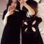 ชุดเดรสแฟชั่นแขนสั้น คอปก แนวสาวสปอร์ต แถมโชว์หลัง-1393-สีดำ thumbnail 1