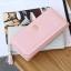 กระเป๋าสตางค์ผู้หญิง ทรงยาว รุ่น Prettyzys SQ Light Pink สีชมพูอ่อน thumbnail 6