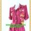 1911เสื้อผ้าคนอ้วน ชุดทำงานม่วงแดงแขนยาว ปกเชิ๊ต เอวถ่วง ทรงหลวมสวมใส่พรางรูปร่างด้วยลายผ้าวาเลนติโน่เนื้อดี thumbnail 3