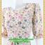 2990ชุดเดรสทำงาน เสื้อผ้าคนอ้วนลายดอกหลากสีรับลมร้อนเมษา สไตล์หวานคอกลมแขนยาวตัดต่อบริเวณอกโค้งรับเนินอก สไตล์สาวหวานแฟชั่นเกาหลี thumbnail 3