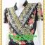 2796ชุดเสื้อผ้าคนอ้วน ชุดทำงานดำลายดอกสไตล์เปรี้ยวหรูไฮโซชุดคอจีนป้ายสำเร็จเก็บทรงเนี๊ยบสุด thumbnail 3