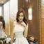 ชุดเดรสแฟชั่น สายเดี่ยวแต่งไขว้หลัง สวยหวาน น่ารักสไตล์เกาหลี-1485-สีขาว thumbnail 2