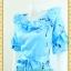 2309ชุดทํางาน เสื้อผ้าคนอ้วนผ้าเครปพิมพ์ลายข้างลำตัวโดดเด่นสะดุดตาแขนทรงระฆังคอกลมระบายรอบ สวมใส่สบายหรูหราอลังการเลือกใส่เป็นชุดออกงานเลิศหรู thumbnail 2