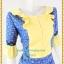 3188เสื้อผ้าคนอ้วนผ้าไทยสีฟ้าทอลายสองหน้ารีดกาวด้านในเพิ่มความเนี๊ยบให้ชุดอยู่ทรงสวยสวมใส่หรูมั่นใจ thumbnail 2