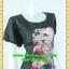2435ชุดทํางาน เสื้อผ้าคนอ้วนคอกลมดอกตัดต่อพิ้นช่วงบ่าปรับสรีระให้บางและพรางรูปร่างเทรนด์คลาสสิคสีดำมีซับใน thumbnail 2