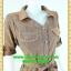 2609ชุดทํางาน เสื้อผ้าคนอ้วนปกเชิ๊ตกระดุมหน้าแขนยาวทรงเอเรียบเล่นลายปกแขนสาบ สไตล์เท่คล่องตัวกระเป๋าล้วงซ้ายขวา thumbnail 2