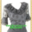 2675ชุดทํางาน เสื้อผ้าคนอ้วนผ้าตาข่ายพิมพ์ลายโบสีดำข้างลำตัวโดดเด่นสะดุดตาแขนทรงระฆังคอกลมระบายรอบ สวมใส่สบายหรูหราอลังการเลือกใส่เป็นชุดออกงานเลิศหรู thumbnail 2