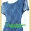 2521ชุดทํางาน เสื้อผ้าคนอ้วนชุดคอกลมเข้ารูปสไตล์workingเบรคอกด้วยลายลูกไม้ที่ปรับสรีระและเพิ่มความมั่นใจ ภูมิฐาน น่าเชื่อถือ thumbnail 3