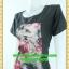2435ชุดทํางาน เสื้อผ้าคนอ้วนคอกลมดอกตัดต่อพิ้นช่วงบ่าปรับสรีระให้บางและพรางรูปร่างเทรนด์คลาสสิคสีดำมีซับใน thumbnail 3