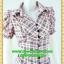 2652ชุดเดรสทำงาน เสื้อผ้าคนอ้วนผ้าตาราง ปกเชิ๊ตกระดุมหน้าทรงสุภาพกระโปรงจีบเรียบร้อย ลวดลายตารางสวมใส่สไตล์ผ้าไทย thumbnail 3