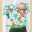 2684ชุดแซกทำงาน เสื้อผ้าคนอ้วนลายดอกคอตลบเสริมโบช้างปกสไตล์คลาสสิคเนี๊ยบ กระโปรงทรงเข้าเอสวมใส่ทำงานสุภาพเรียบร้อย thumbnail 2