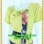 2502ชุดแซกทำงาน เสื้อผ้าคนอ้วนชุดกระโปรงลายดอกกระดุมหน้าคอปกระบายสไตล์งานผ้าไทยเล่นลวดลายแถบหน้าตัวเสื้อรับsummer thumbnail 2