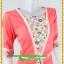 3001ชุดทํางาน เสื้อผ้าคนอ้วนสีส้มลายดอกตัดต่อผ้าพื้นและลายคั่นด้วยกุ้นสี แขนยาว สไตล์เนี๊ยบสุดหรูมีรสนิยมเลือกชุดทำงาน thumbnail 2