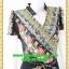 2796ชุดเสื้อผ้าคนอ้วน ชุดทำงานดำลายดอกสไตล์เปรี้ยวหรูไฮโซชุดคอจีนป้ายสำเร็จเก็บทรงเนี๊ยบสุด thumbnail 2