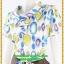 2027ชุดแซกทำงาน เสื้อผ้าคนอ้วนหลากสีจุดกลมคอตลบเสริมโบชิ้นลอยใต้ปกสไตล์คลาสสิคเนี๊ยบ กระโปรงทรงเข้าตรงสวมใส่ทำงานสุภาพเรียบร้อย thumbnail 3