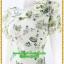 2921เสื้อผ้าคนอ้วน ชุดทำงานลายดอกสีเขียวตองอ่อนคอระบายม้วนกุหลาบด้านข้างเก๋สไตล์หวาน thumbnail 3
