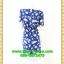 2663ชุดเดรสทำงาน เสื้อผ้าคนอ้วน ผ้าหางกระรอกลายกุหลาบซับในคอปาดแขนยาวจีบสวยหวานเรียบๆหรูอินเทรนด์ thumbnail 4
