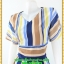 2910เสื้อผ้าคนอ้วน ชุดทำงานลายริ้วคอวีแนวฟรีสไตล์กับผ้าชีฟองเบาสบายสวมใส่ทำงานอย่างอิสระ thumbnail 3