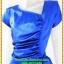 3054เสื้อผ้าคนอ้วน ชุดราตรีออกงานสีน้ำเงินสุดหรูคอวีจับเดรฟสุดปราณีตสวยงามหรูหรา น่าค้นหาเป็นที่สุด สวยและมั่นใจสไตล์ออกงาน thumbnail 2