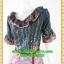 2754ชุดทํางาน เสื้อผ้าคนอ้วนผ้าไหมอิตาลีพิมพ์ลายข้างลำตัวโดดเด่นสะดุดตาแขนทรงระฆังคอกลมระบายรอบ สวมใส่สบายหรูหราอลังการเลือกใส่เป็นชุดออกงานเลิศหรู thumbnail 3