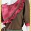 1916เสื้อผ้าคนอ้วน เสื้อผ้าแฟชั่นคอกลมแขนยาวแต่งระบายโค้งด้านหน้าสีสันสดใสเพิ่มความหวานด้วยกระโปรงจีบ thumbnail 2