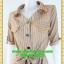 2591ชุดทํางาน เสื้อผ้าคนอ้วนปกเชิ๊ตกระดุมหน้าแขนยาวทรงเอเรียบเล่นลายปกแขนสาบ thumbnail 3