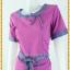 3152เดรสทำงาน เสื้อผ้าคนอ้วนสีกลีบบัวผ้าไหมเทียมแต่งลายไทยปลายแขนและคอแต่งคอสะดุดตา thumbnail 3