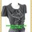 2647ชุดเสื้อผ้าคนอ้วน ชุดทำงานคนอ้วน ชุดดำกระโปรงลายจุดสุดคลาสสิคสวมใส่ทำงานพรางรูปร่างเรียบร้อย สุภาพเรียบง่ายสไตล์คลาสสิค thumbnail 2
