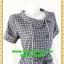 1935ชุดแซกทำงาน เสื้อผ้าคนอ้วน ลายตารางน้ำเงิน คอตลบกุ๊นแถบคู่กระดุมหน้า เนี๊ยบแบบน่ารัก สไตล์สาวยุคใหม่กับปกที่แปลกตาไม่เหมือนใคร thumbnail 2