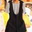 ชุดเอี๊ยมผ้า ชุดเซท 2 ชิ้นมาพร้อมเสื้อยืด-1126-สีดำ thumbnail 3