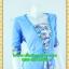 2535ชุดทํางาน เสื้อผ้าคนอ้วนเทาลายวินเทจตัดต่อผ้าพื้นและลายคั่นด้วยกุ้นสี แขนยาว สไตล์เนี๊ยบสุดหรูมีรสนิยมเลือกชุดทำงาน thumbnail 2