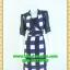 2417ชุดเดรสทำงาน เสื้อผ้าคนอ้วนชุดคอจีนแต่งดำคอแขนสไตล์เรียบโชว์ลายผ้าวาเลนติโน่ไม่ซ้ำใคร thumbnail 1
