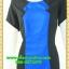 2850ชุดแซกทำงาน เสื้อผ้าคนอ้วนคอกลมแต่งแถบสีน้ำเงินเพิ่มเชพให้ดูดี360องศา สไตล์ทูโทนคลาสสิคสวมใส่ทำงานลุคเรียบง่ายสุดเนี๊ยบ thumbnail 3