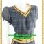 2812เสื้อผ้าคนอ้วน ชุดทำงานลายสก็อต คอวีแต่งขอบตกแต่งเพิ่มลวดลาย ขอบเอวและกระเป๋าอย่างโดดเด่นสไตล์สาวมั่น thumbnail 2