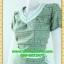 2022เสื้อผ้าคนอ้วน ชุดทำงานลายชิโนริ คอวีแต่งขอบคอขาวกดทับลูกไม้ตกแต่ง ขอบเอวและกระเป๋าอย่างโดดเด่นสไตล์สาวมั่น thumbnail 3