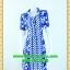 2514เสื้อผ้าคนอ้วน ชุดทำงานปกเชิ๊ตลายผ้าไทยโทนสีเข้มกระดุมหน้าแขนยาวกระโปรงทรงเอทวิสคู่หน้าสไตล์คล่องตัวมั่นใจ thumbnail 1