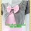 2604เสื้อผ้าคนอ้วน ชุดทำงานคอกลมสีชมพูแต่งกั๊กลายตารางสไตล์เกาหลีสวมใส่ทำงานน่ารักสะดุดตาให้เลือกสวมใส่ทำงาน thumbnail 3