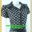 1996เสื้อผ้าคนอ้วน เสื้อผ้าแฟชั่นลายจุดกราฟฟิคหรูปกเชิ๊ตแขนกลีบบัวกระดุมหน้ากระโปรงเข้มพรางสะโพกสไตล์สาวมั่นคล่องตัว thumbnail 2