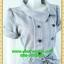 2548ชุดแซกทำงาน เสื้อผ้าคนอ้วนชุดลายตารางสีเทาทรงสุภาพเนี๊ยบแบบ หรูสไตล์สาวลุคใหม่มั่นใจโดดเด่นด้วยแถบขาวคู่ยาวพรางรูปร่างมีกระเป๋าหลอกซ้ายขวา thumbnail 2