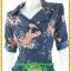 2966ชุดทํางานคนอ้วน เสื้อผ้าคนอ้วนลายเสือ สไตล์โค้ทชุดยาวคลุมเข่า คล่องตัว กระฉับกระเฉง กระดุมหน้าปลายแขนอินธนูปกฮาวายสไตล์สาวมั่น thumbnail 3