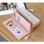 กระเป๋าสตางค์ผู้หญิง ทรงยาว รุ่น Prettyzys SQ Light Pink สีชมพูอ่อน thumbnail 3