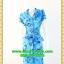 1558ชุดเดรสทำงาน เสื้อผ้าคนอ้วนปกเทเลอร์ใหญ่กระดุมหน้าลายดอกสีฟ้าสไตล์เนี๊ยบ ทรงสุภาพเป็นทางการสวมใส่ทำงาน thumbnail 1