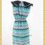 3127เสื้อผ้าคนอ้วน ชุดทำงานชุดเดรสปกบัวใหญ่โดดเด่นสะดุดตาสีเขียวชุดทรงตรงพิมพ์ลายกราฟฟิคสีสันสดใสสไตล์วินเทจ thumbnail 4
