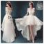 รหัส ชุดราตรี :AN614 ชุดแซก ชุดราตรี pre wedding หน้าสั้นหลังยาว ลูกไม้ประดับด้านบน เรียบหรุและสวยเก๋มากๆ thumbnail 1