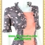 2690เสื้อผ้าคนอ้วน เสื้อผ้าแฟชั่นดอกเกาะอกมีชุดคลุมลายวินเทจระบายคอเลิศหรูสีเข้มหรูสง่างามสวมใส่ทำงานสไตล์หรูมั่นใจ thumbnail 2