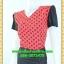 2996เสื้อผ้าคนอ้วน ชุดเดรสคนอ้วนสีแดงลายจดดำคอวีแต่งแขนและกระโปรงดำสไตล์สาวมั่นยุคใหม่ thumbnail 3